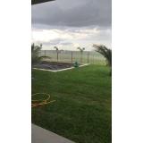 serviço de instalação de grama em chácara Mendonça